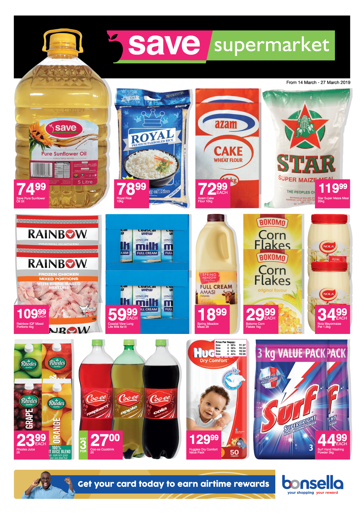 Howick/Dalton - valid from<br/>14 March until<br/>27 March 2019