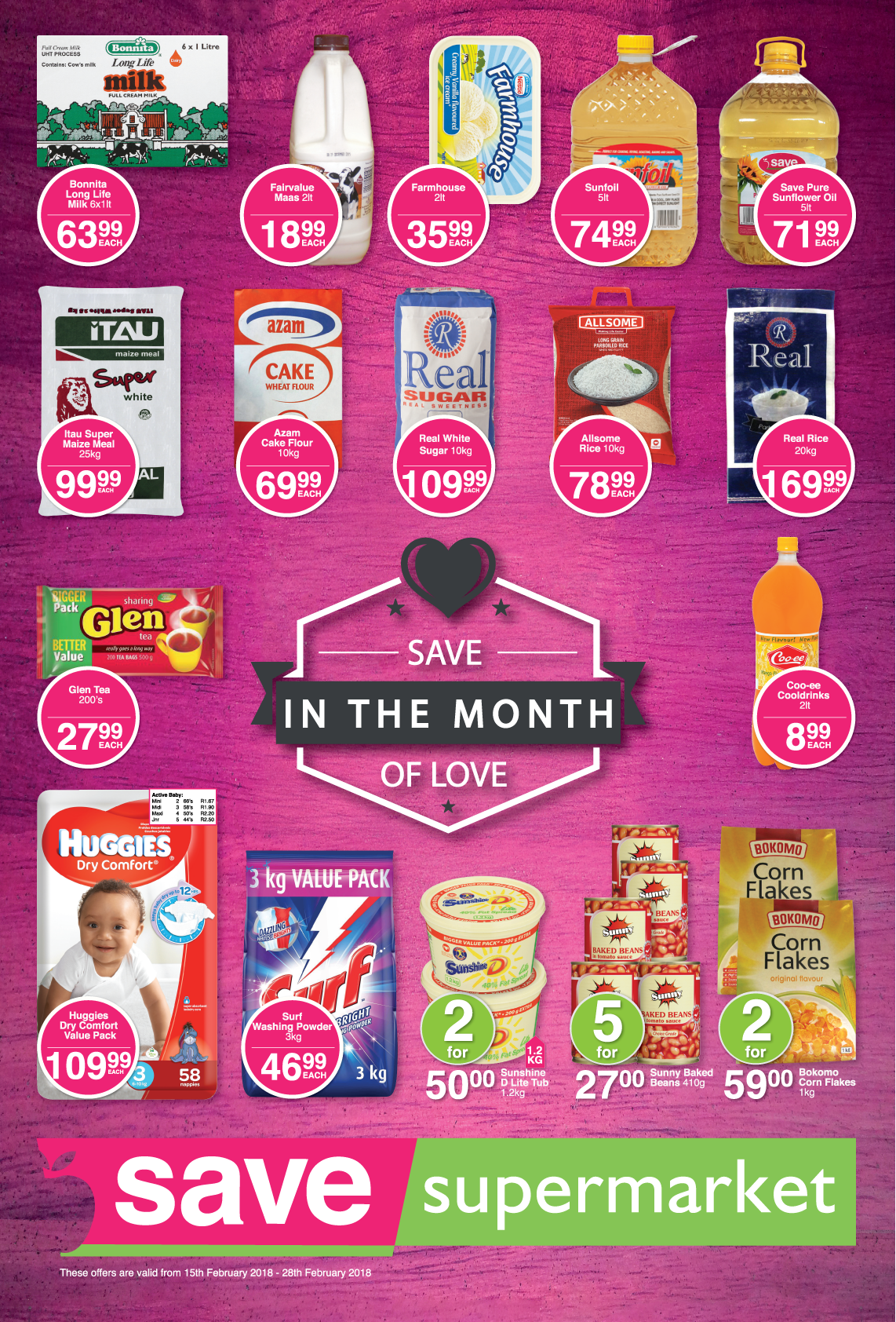 Save Supermarket Church Specials - until 28th February 2018
