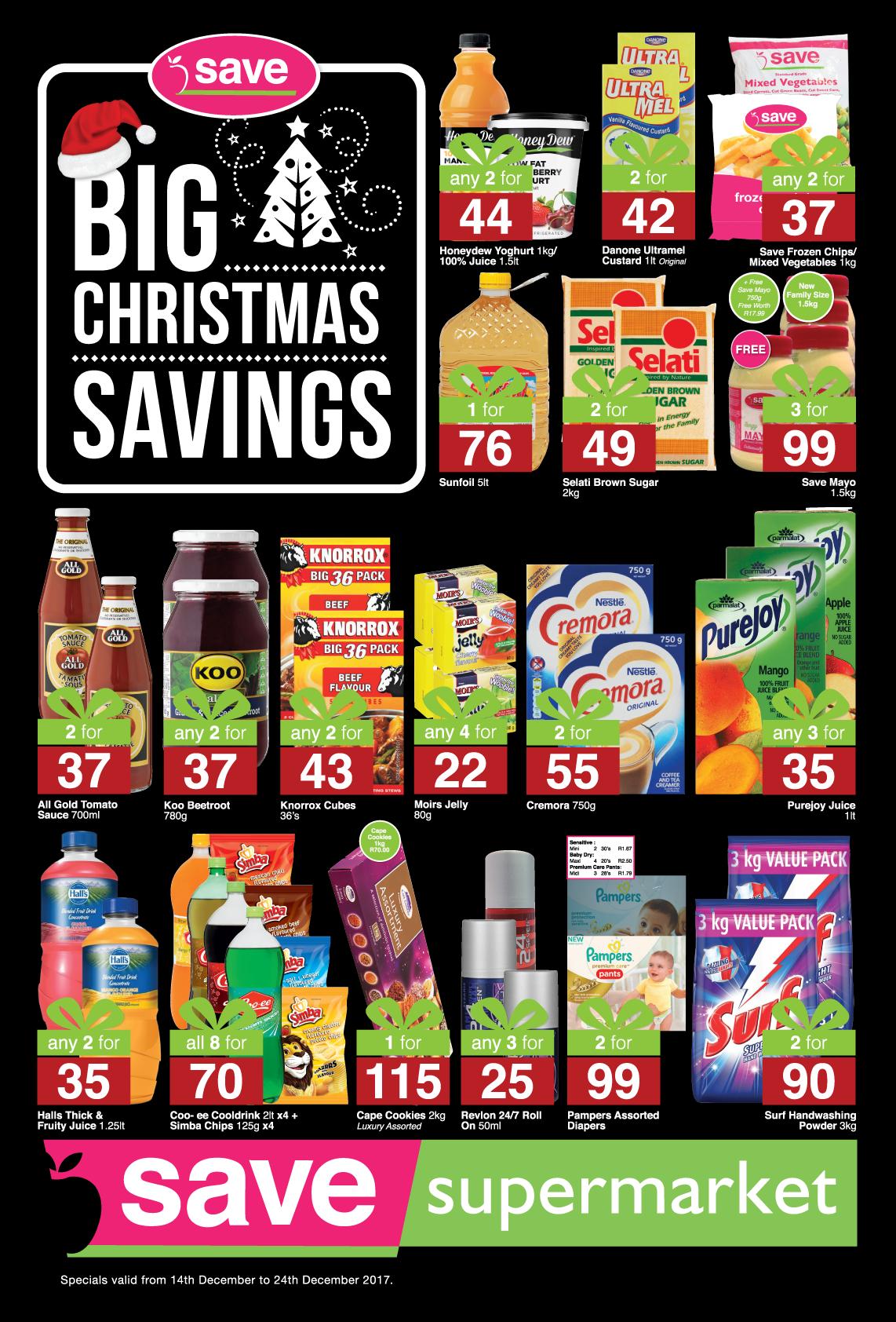 Save Supermarket Church Specials -  until 24th December 2017