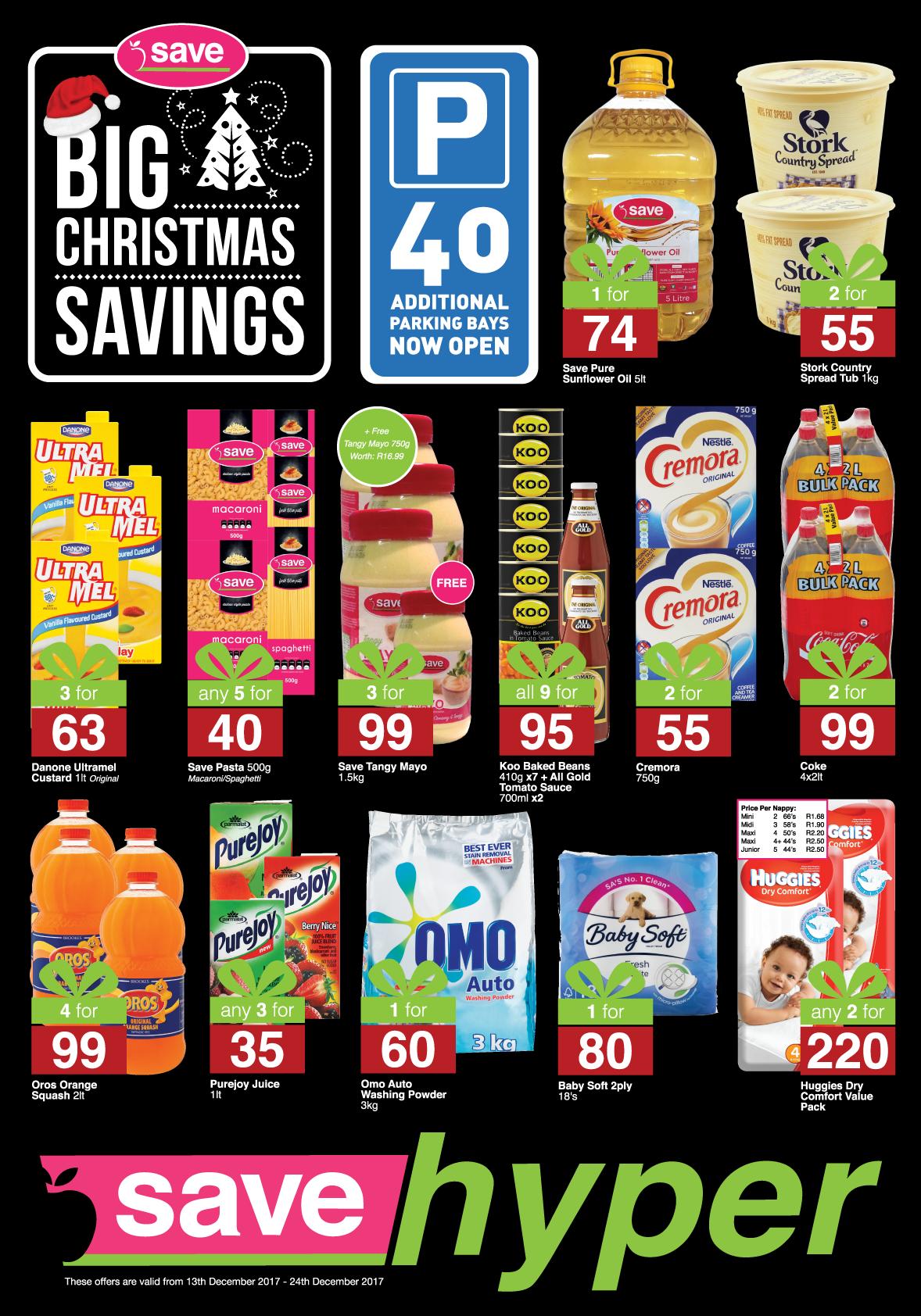 Save Hyper Specials -  until 24th December 2017