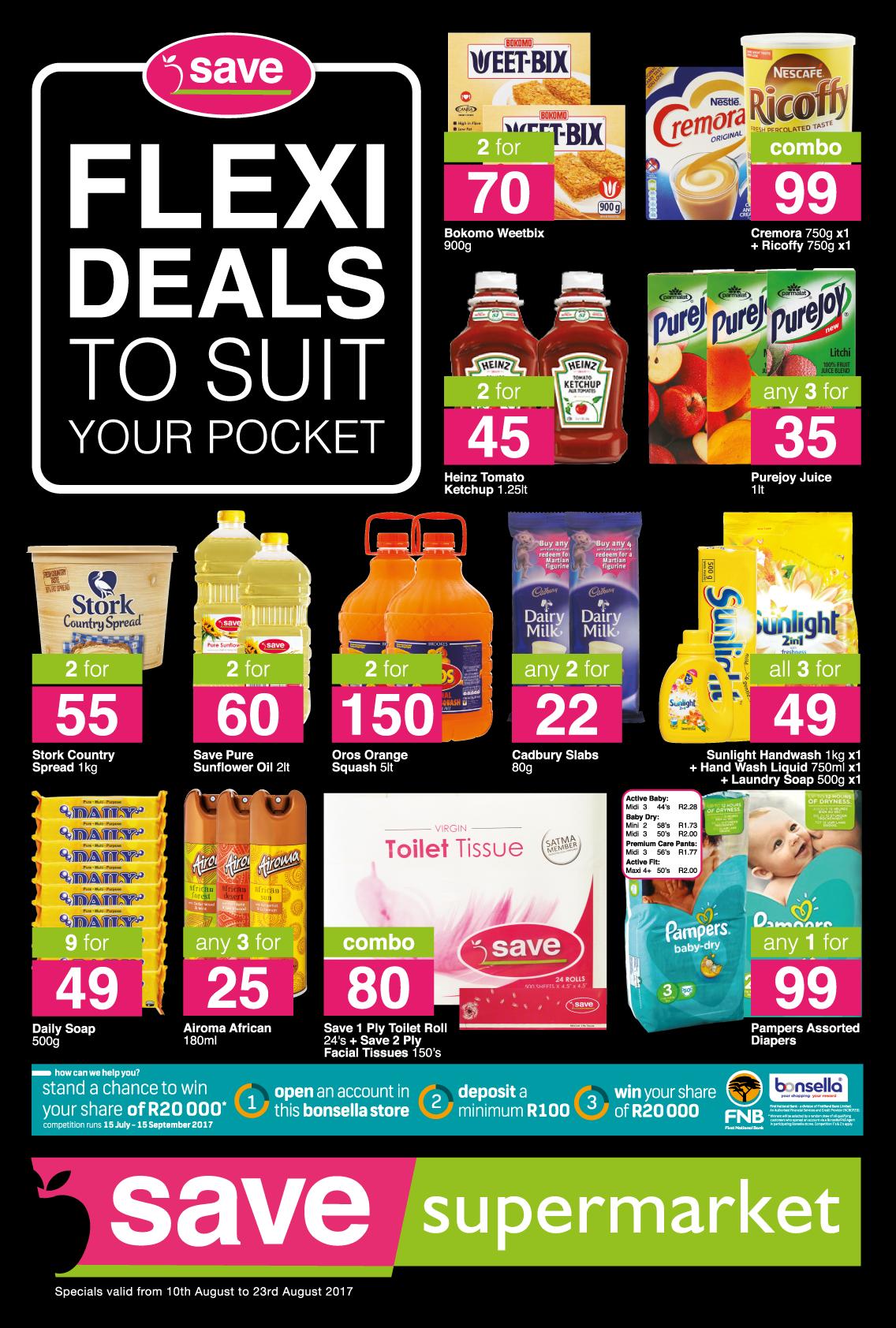 Save Supermarket West Street Specials - until 23rd August 2017