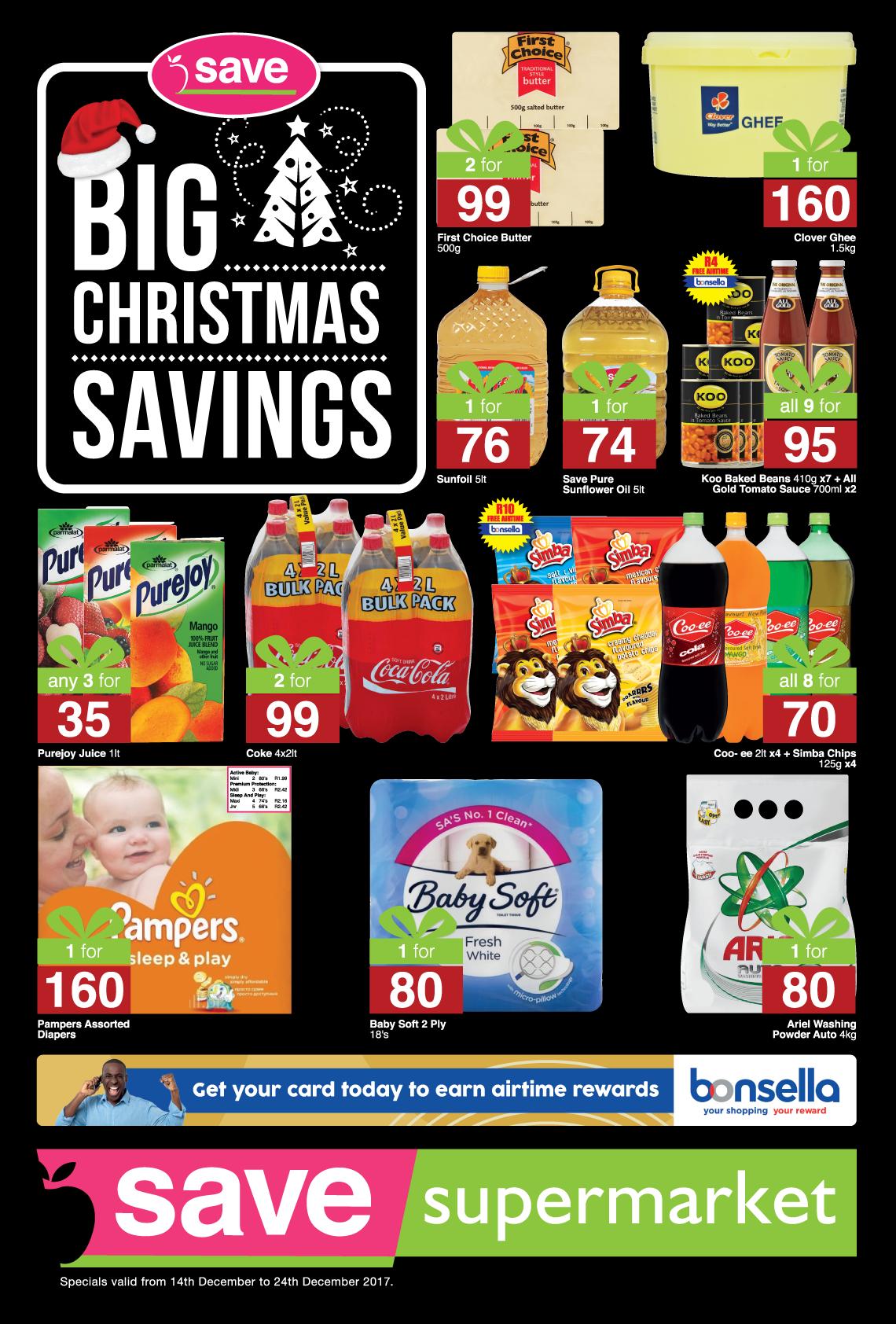 Save Supermarket Brickfield / Truro Specials -  until 24th December 2017