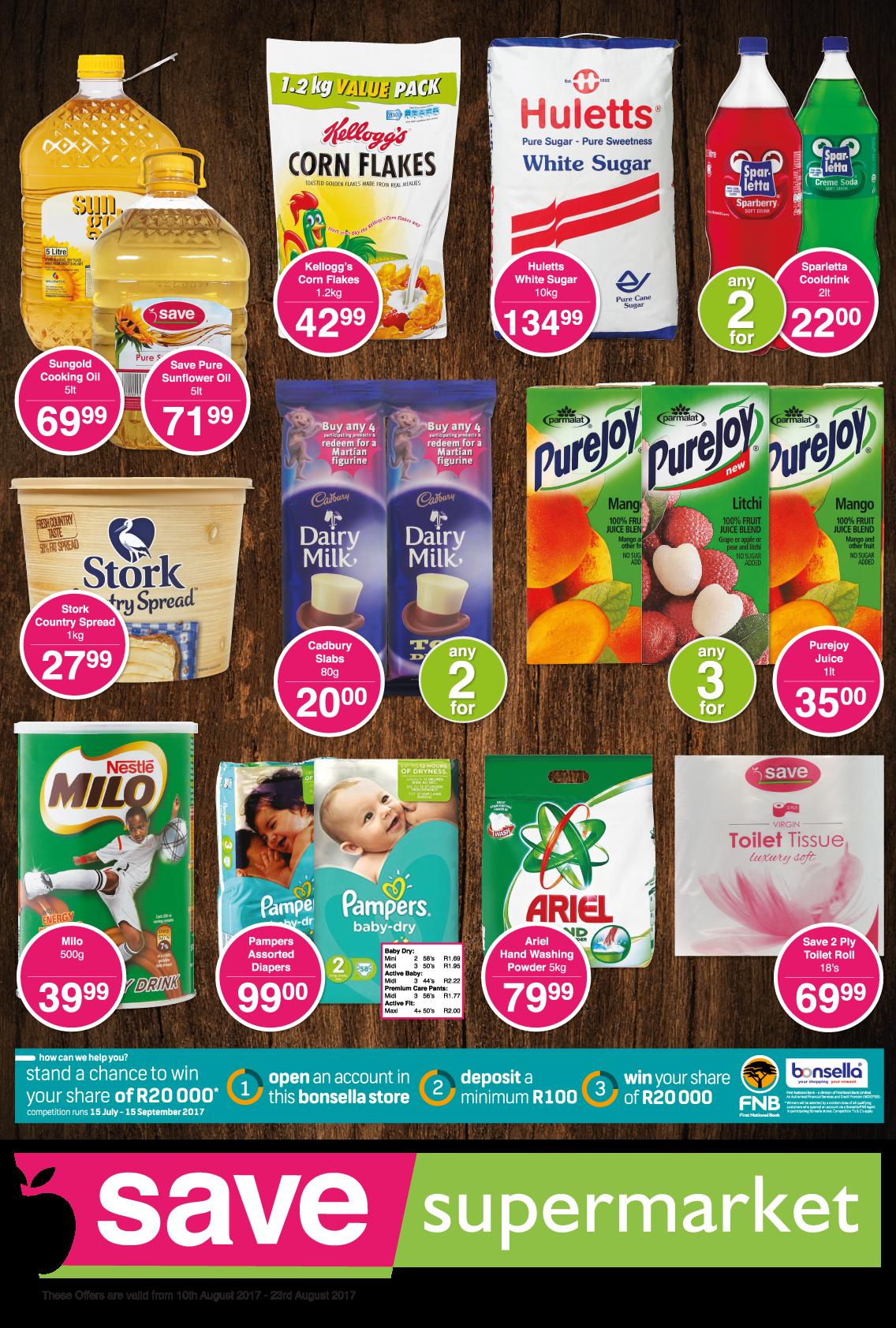 Save Supermarket Brickfield / Truro Specials - until 23rd August 2017