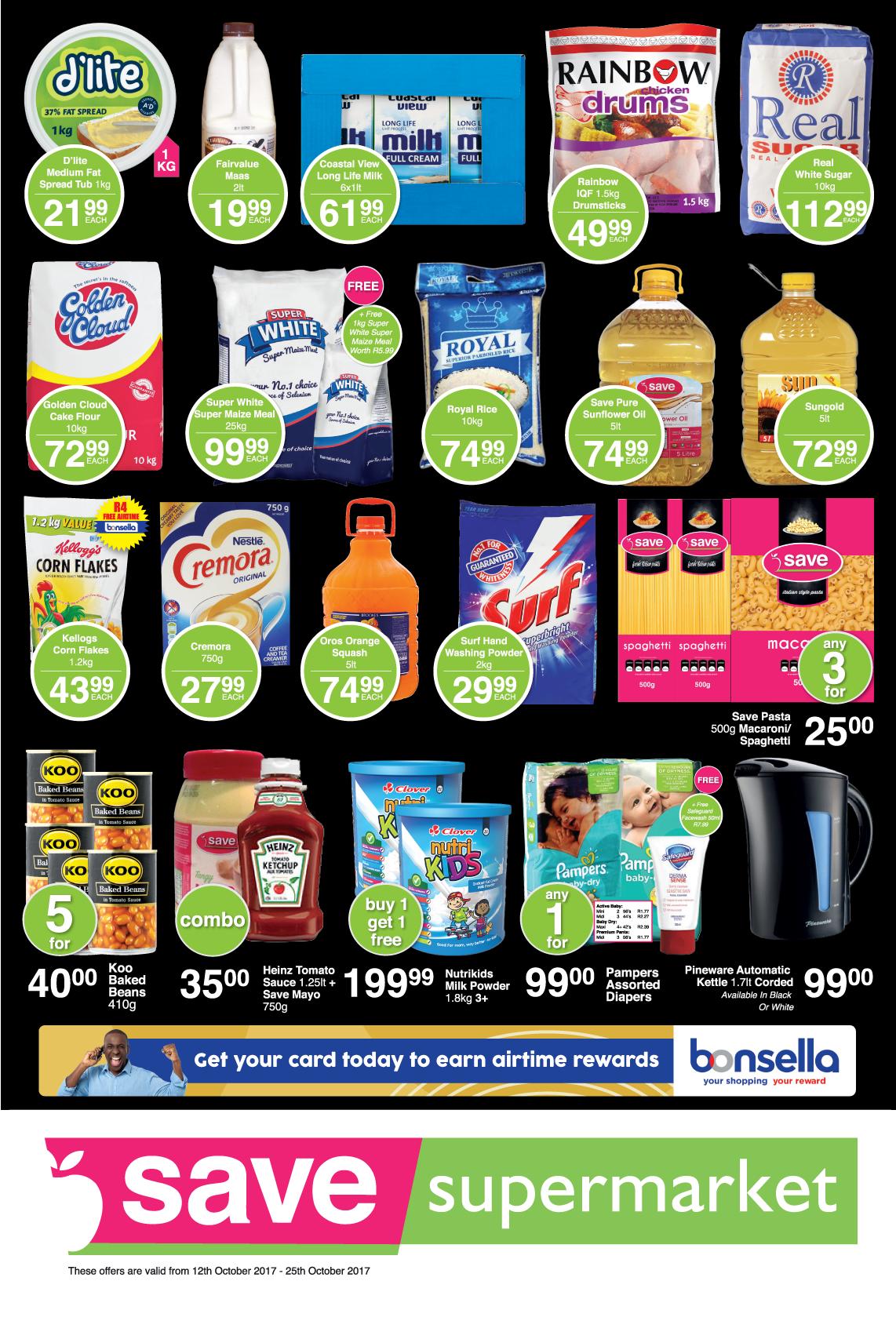 Save Supermarket Howick/Dalton Specials - until 25th October 2017