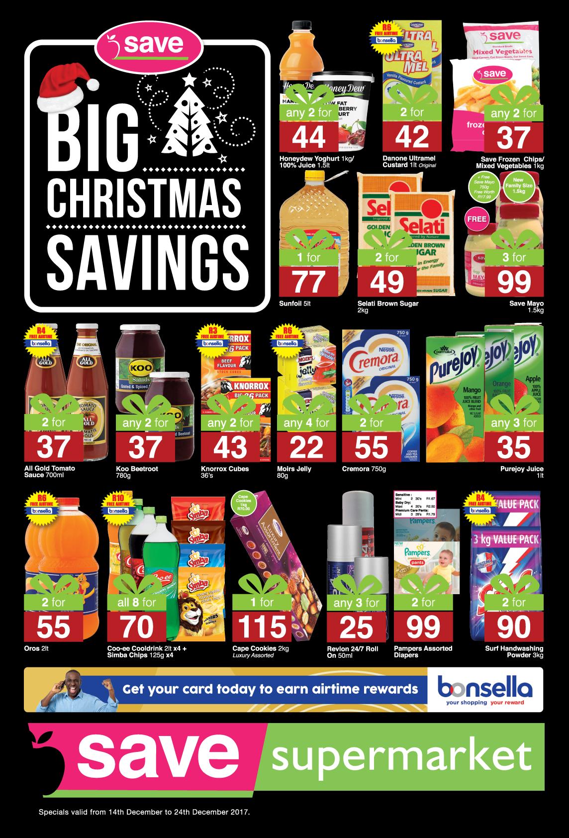 Save Supermarket Howick/Dalton Specials -  until 24th December 2017