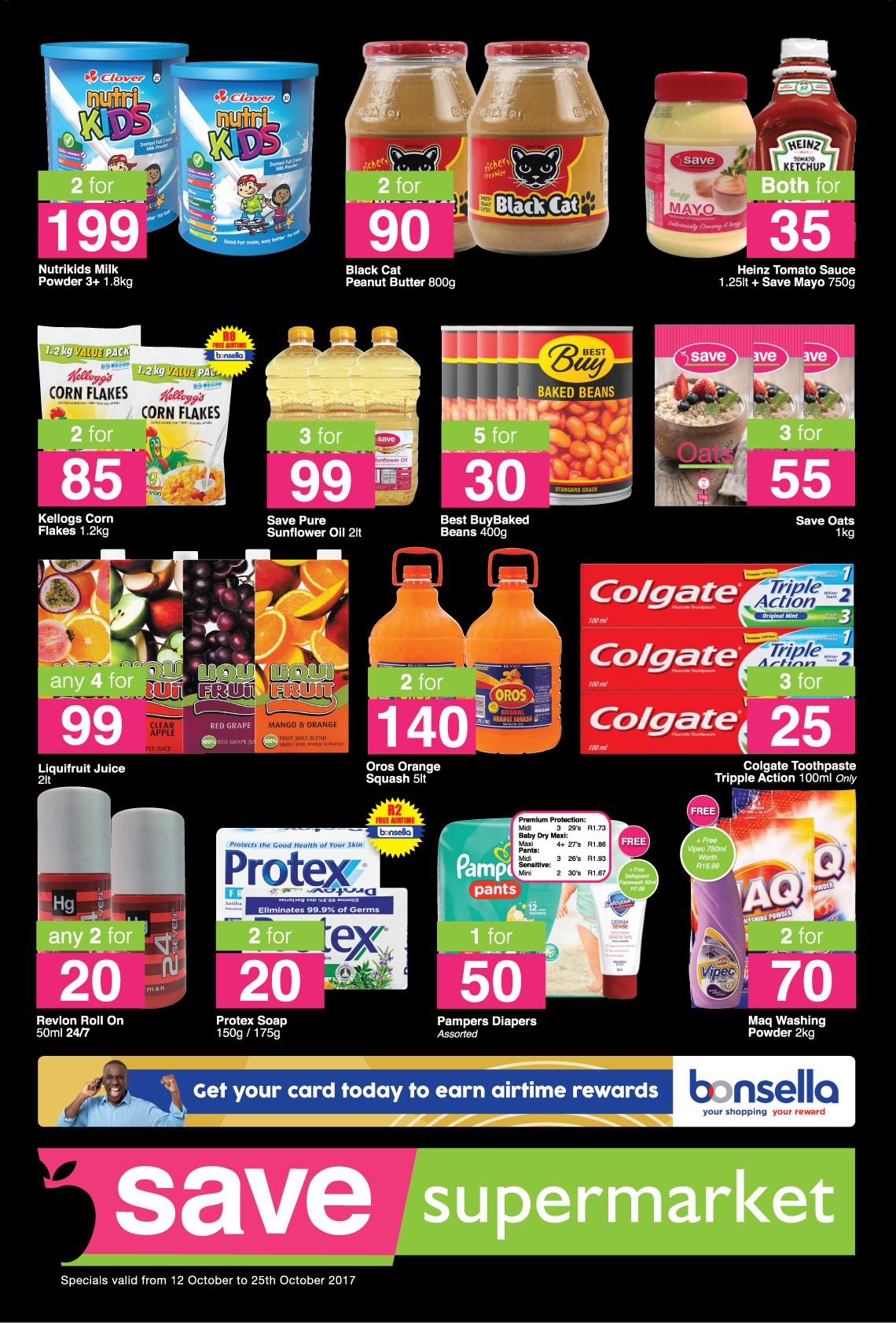 Save Supermarket West Street Specials - until 25th October 2017